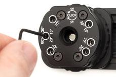 Einstellbare Klickrastung des pocketPANO VARIO Nodalpunktadapters