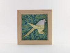Cadre origami Mésange - Format 11x11cm - 20€