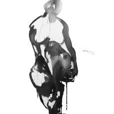 自然5 NATURALLY 6 90X90CM 绢本水墨 INK ON SILK 2007