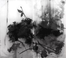 盛塘荷12 LONG LOTUS 12 175X186CM 绢本水墨 INK ON SILK 2007 (收藏于法国 COLLECTED IN FRANCE)