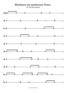 Punktierte Noten PDF