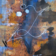 Linientier Maria Wirth Mixed Media
