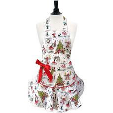 Weihnachts-Küchenschürze von Jessie Steele mit roter Schleife