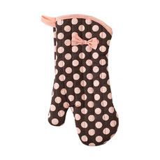 Jessie Steele Ofenhandschuh in Braun mit rosa Punkten