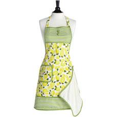 Jessie Steele Kochschürze mit Frotteetuch Zitronen