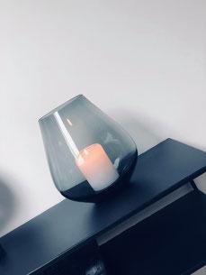 vase noir, vase noir translucide, déco scandinave, home party déco, bougeoir vase
