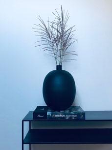 grand vase noir, vase pampas, vase noir, vase fleurs séchées, vase déco, home decor