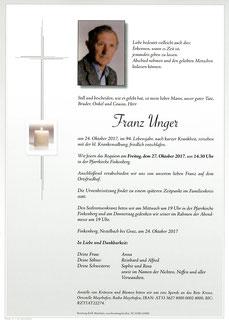 Parte Unger Franz +24.10.17