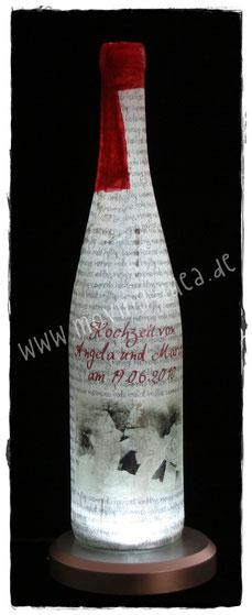 Weinflasche mit eigenem Foto