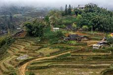 Typisches Dorf in Vietnam