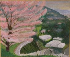 春の里山  アクリル15号