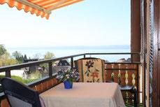 Seeblick vom Balkon der Wohnung