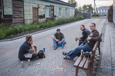 Helle´s bayrische Biertrink-Kollegen in Russland.