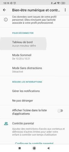 Bien-être numérique Google app (2)