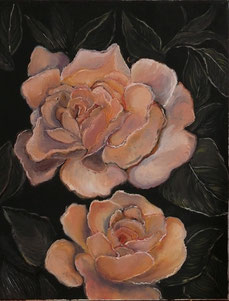 Roses, oil on canvas, cm40x50, 2012