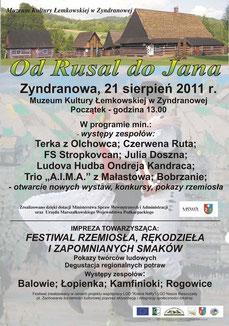 Od Rusal do Jana Zyndranowa 2011