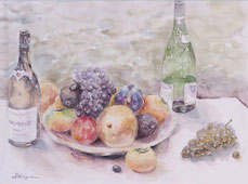 秋の果物 (水彩・F10 )