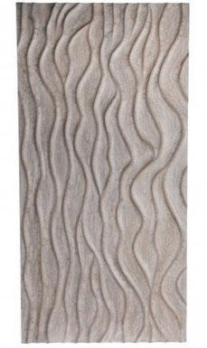 Panel de madera rectangular de color blanco Ellora