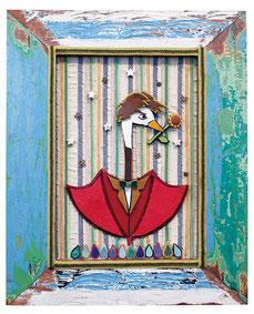 くるるの立体絵画「白鳥男爵」
