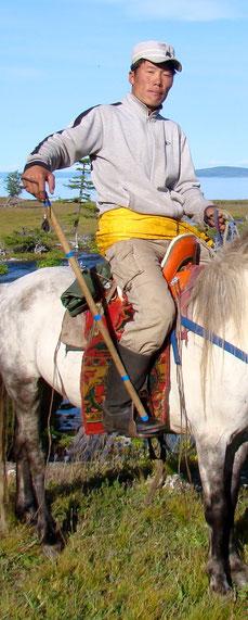 Guide mongol à cheval au Khovsgol