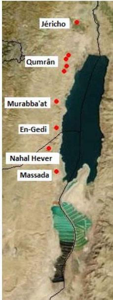 Le désert de Judée et les manuscrits de la mer Morte- Jéricho, Qumrân, Murabba'at, En-Gedi, Nahal Hever, Massada. En Gedi est une oasis située sur la rive occidentale de la mer Morte à 40 km au sud de Qumrân.