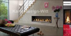 Gas-Kamin Architektur 40x144