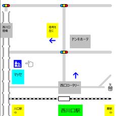 西川口駅から美容室マッセへの案内図