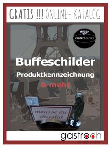 Buffet Schilder und Ständer