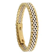 Bracciale Collezione Watches In Oro Giallo e Bianco
