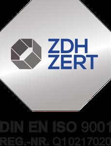 Das ZDH-Zertifikat spricht für die Qualität der Produkte der Saur GmbH.