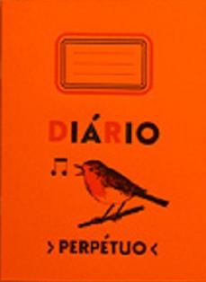 """Caderno """"Diário Perpétuo"""" (Capa laranja)"""