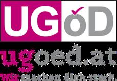 UGÖD-Logo mit Slogan: Wir helfen dir.