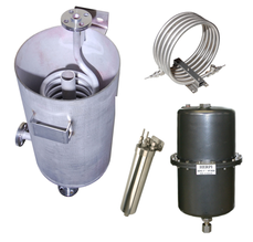 Open cooler, flanged open cooler, helical cooler, instrument cooler, spiral cooler, tube-in-tube cooler, tube in tube, Herpi, Sentry, heat exchanger, jacket cooler, jacket heat exchanger