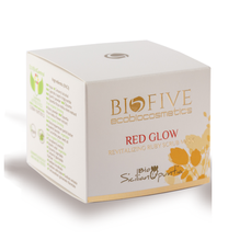 scrub mask red glow ruby biofive