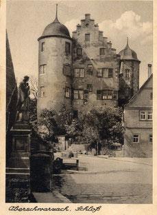 Historische Postkartenansicht des Südgiebels