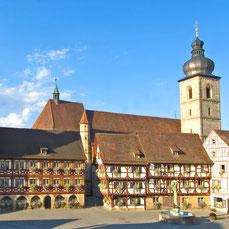 Kaiserstadt Forchheim zentral in Franken zwischen den Metropolen Nürnberg, Bamberg, Bayreuth liegt der Landgasthof Bieger im Landkreis Forchheim