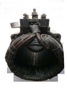 Stator Blechpaket mit zerstörter Kupferwicklung gleichmäßig verbrannt