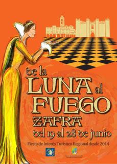 Cartel y programa De la Luna al Fuego 2015 en Zafra Mercado Siglo de Oro