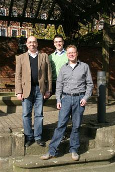 Die Weihekandidaten Thomas Fahle, Sven Christer Scholven und Stephan Markgraf