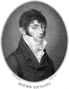 Mauro Giuliani. Stich von Johann Friedrich Jügel, 1810.