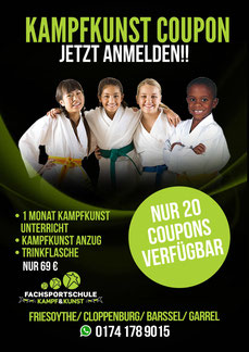 Kampfkunst Coupon - Event und Angebot Kampfsport in Friesoythe