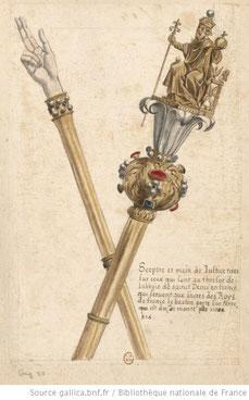 sceptre et main de justice. Gallica