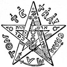 Pentagramme de Faust: Eliphas Levi, Dogme et Rituel de la Haute Magie (1855)
