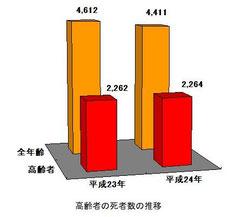 平成24年中高齢者の死者数