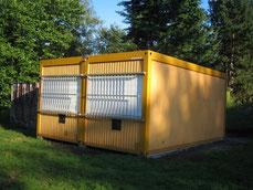 2009: die neuen Kinderforums Container - finanziert durch Spenden