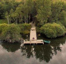 Pêcher la carpe à Bouxier et Mont vue des pontons