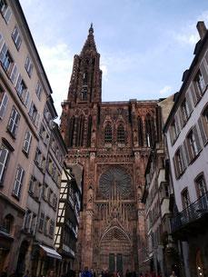 Das Strasbourger Münster oder Cathédrale Notre-Dame in Strasbourg