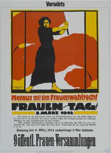 Seit 1911 forderten die sozialistischen Frauenverbände auf jährlichen Frauentagen das Frauenwahlrecht und die Gleichstellung.  Foto: Archiv der sozialen Demokratie der Friedrich-Ebert-Stiftung