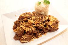Thai Küche Mu Kratiam Schweinefleisch in Knoblauch Rezept