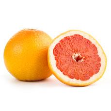 輪切りされたオレンジの果肉のグレープフルーツ